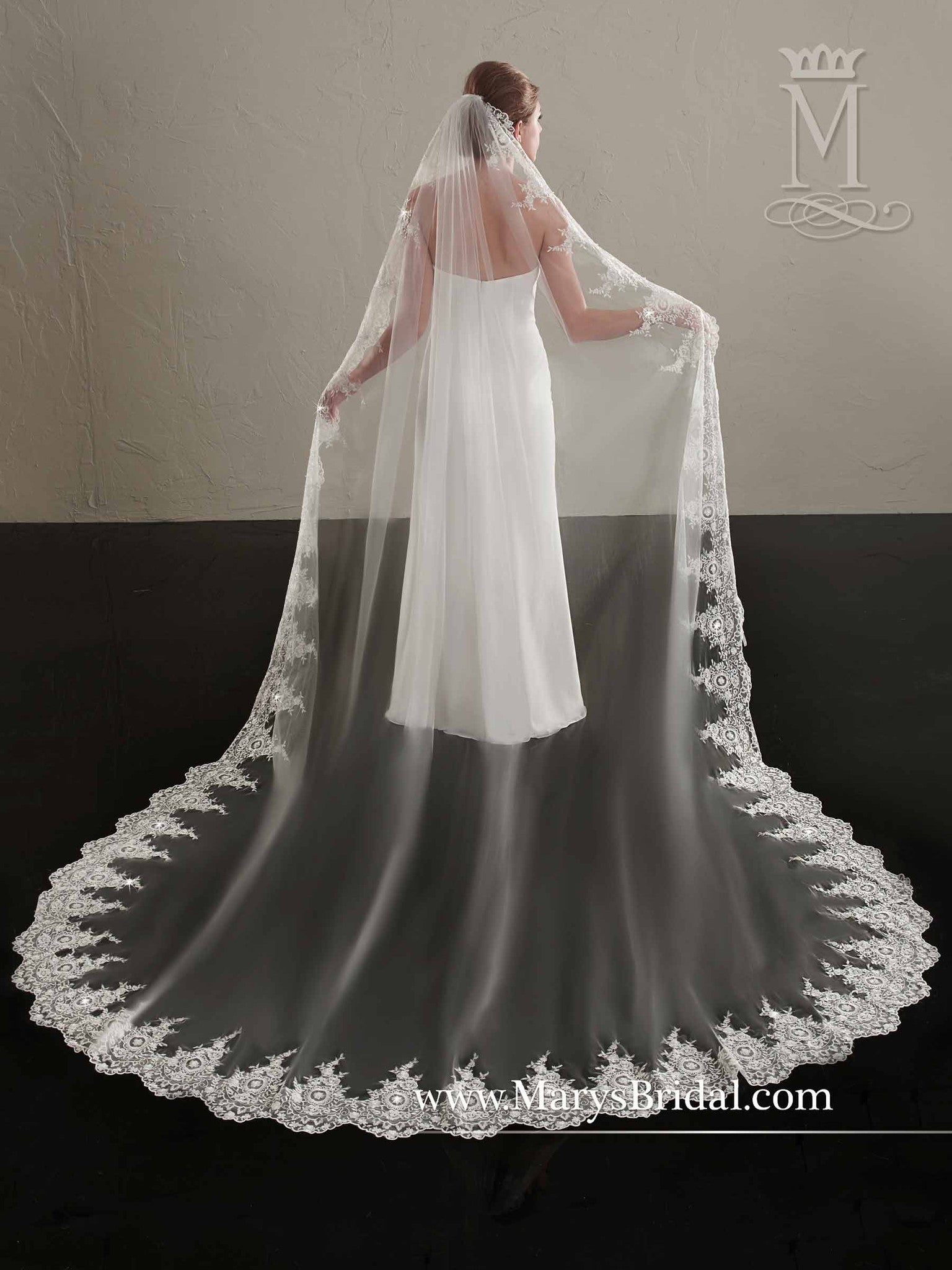 Romantic Lace Veil - Concepcion Bridal & Quinceañera Boutique