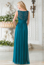 Belsoie Teal Lace Chiffon Dress - Concepcion Bridal & Quinceañera Boutique