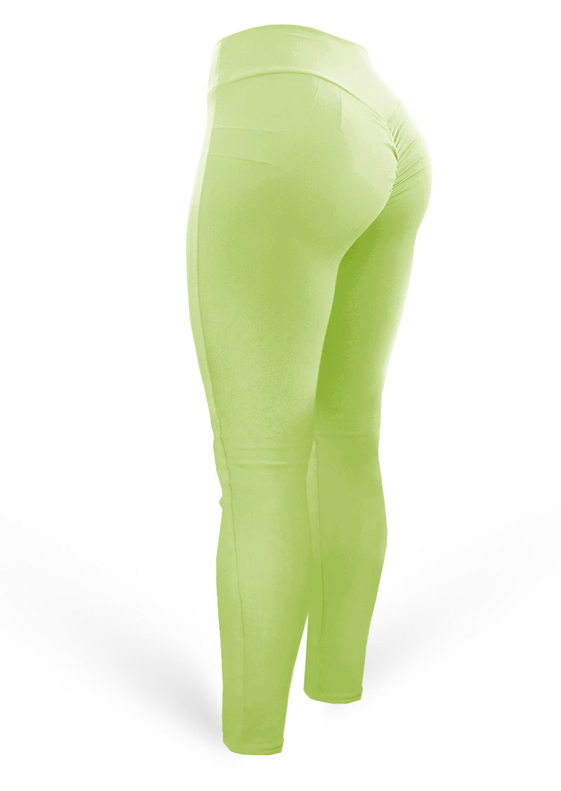 Push Up Pants Scrunch Mix Light Avocado (Light Dri-fit) - AcaiBerryFashion