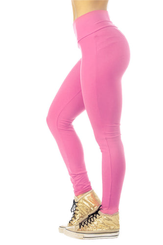 Brazilian Butt Push Up Pants Fitness - Bubble Gum - AcaiBerryFashion
