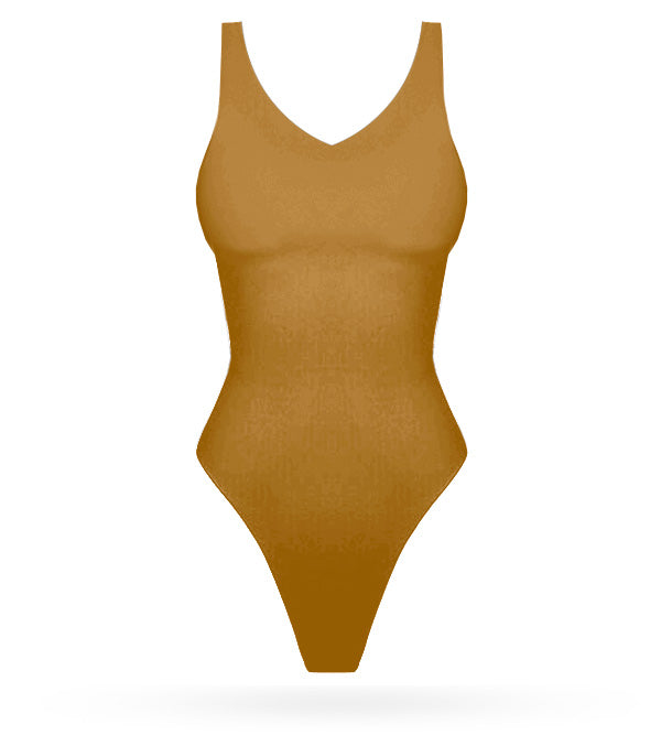 No sleeves Bodysuit - Gold - AcaiBerryFashion