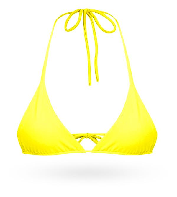 Strappy Tie Top - Yellow - AcaiBerryFashion