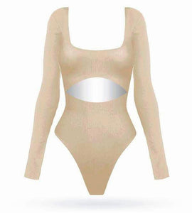 My Bday Bodysuit - Nude - AcaiBerryFashion