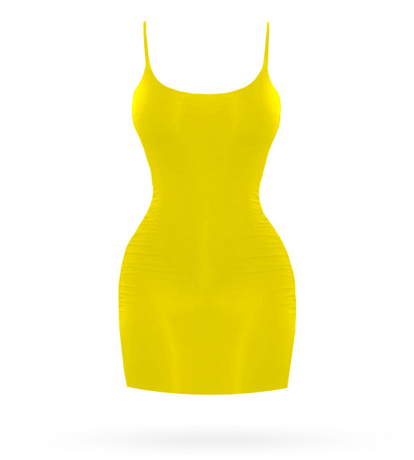 Kim Short Dress - Yellow - AcaiBerryFashion
