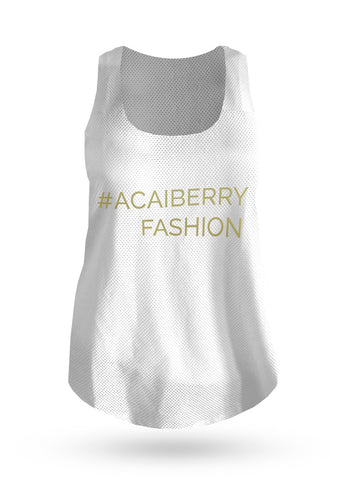 The Hashtag Vest - White - AcaiBerryFashion