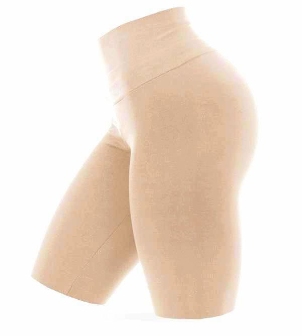 High Waist Shorts - Nude - AcaiBerryFashion