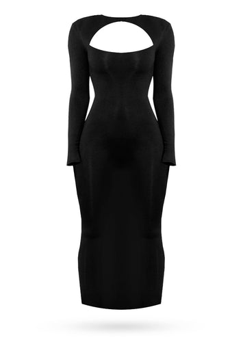 All About Midi Dress - Black - AcaiBerryFashion