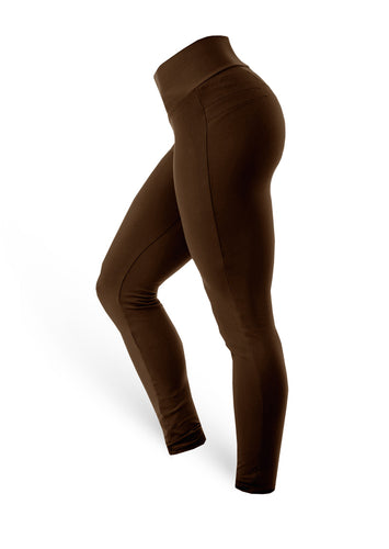 Brazilian Butt Push Up Pants Fitness - Mocha - AcaiBerryFashion