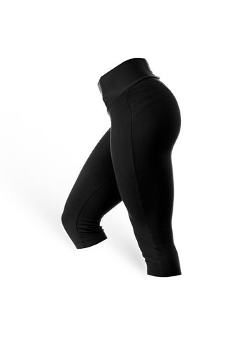 BrazilianButt Push Up Capris Pants - Black - AcaiBerryFashion