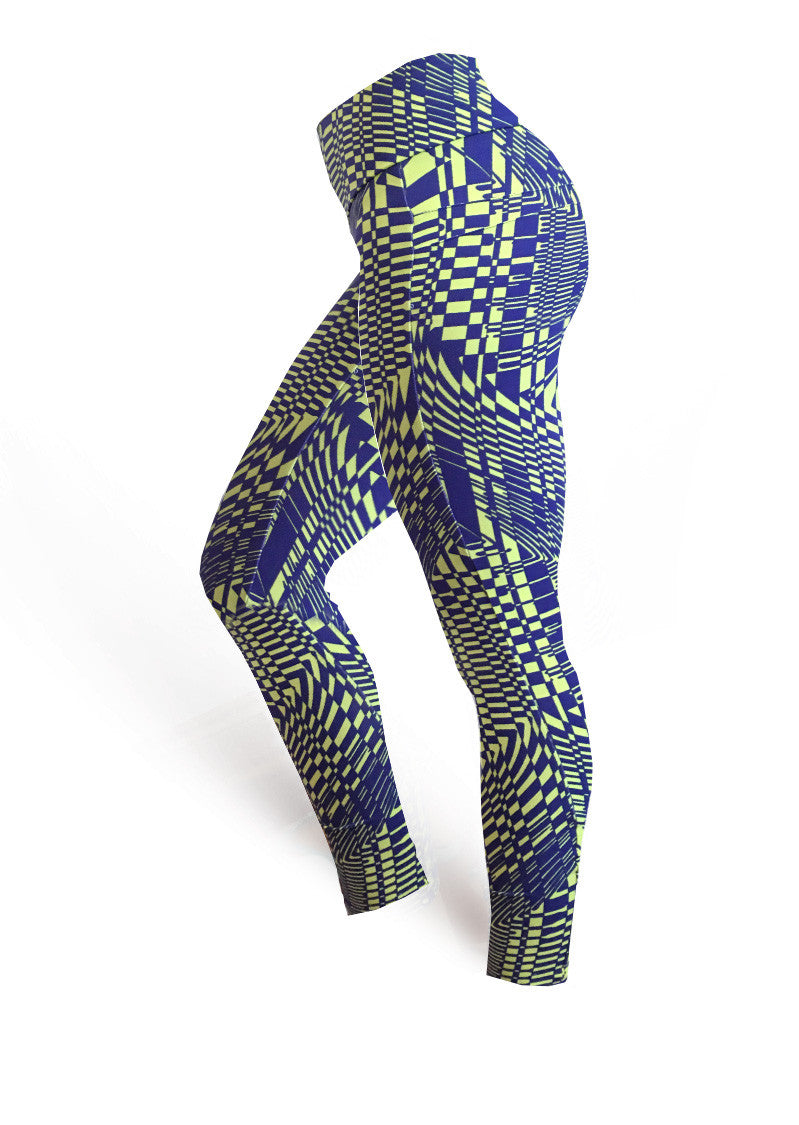 Brazilian Butt Push Up Pants Fitness - Psychedelic - AcaiBerryFashion