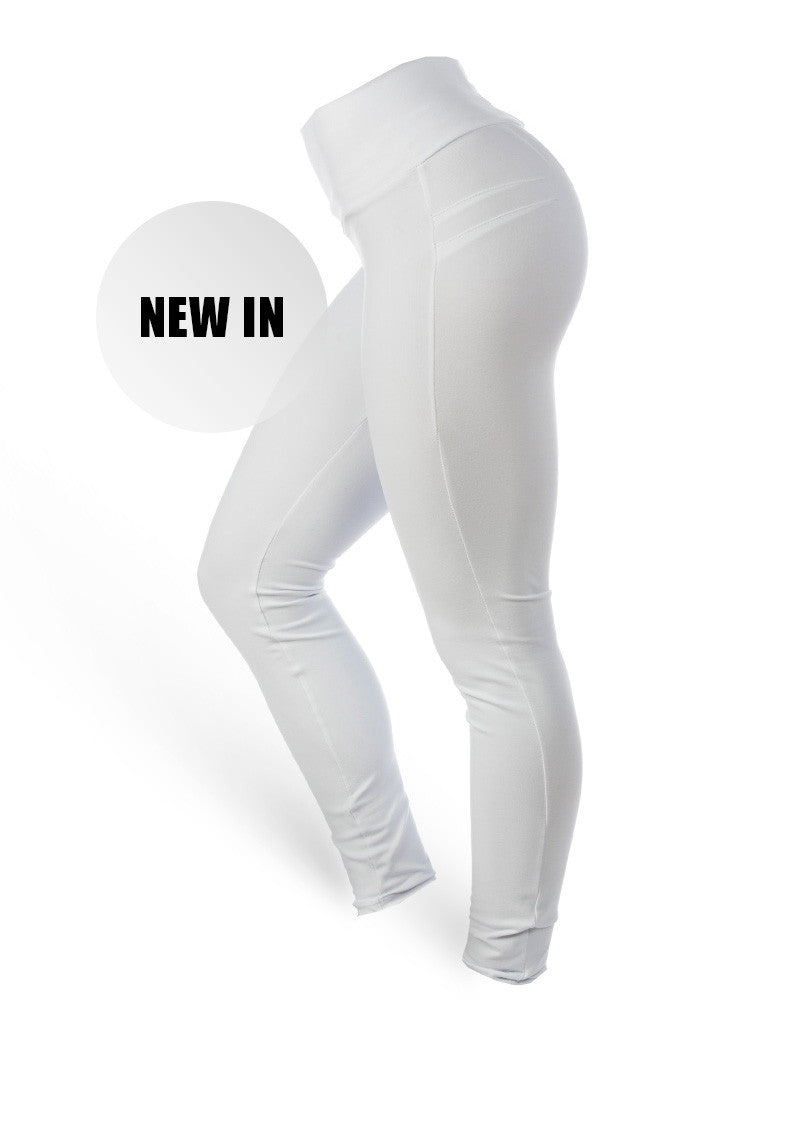 Brazilian Butt Push Up Pants Fitness - New White - AcaiBerryFashion