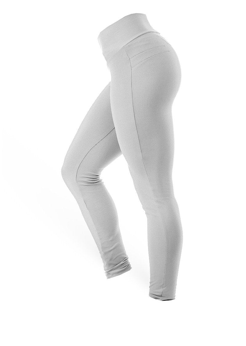 Brazilian Butt Push Up Pants Fitness - Platinum Grey - AcaiBerryFashion