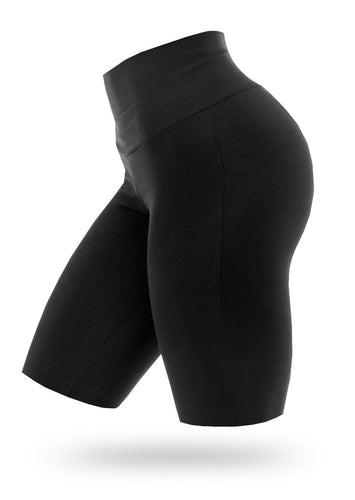BRAZILIANBUTT PUSH UP BIKE SHORTS - Black - AcaiBerryFashion