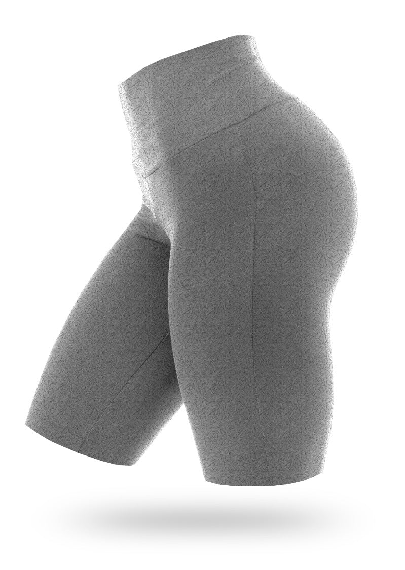 BRAZILIANBUTT PUSH UP BIKE SHORTS - Mescla - AcaiBerryFashion