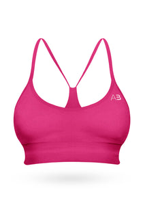 The Squat Sport Bra - Rosa pop - AcaiBerryFashion