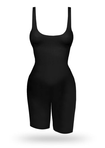 BrazilianButt Push Up Bike Jumpsuit - Black - AcaiBerryFashion
