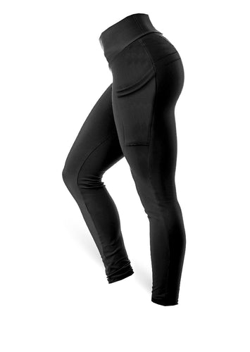 The Brazilian Butt Side Pockets Pants - Black - AcaiBerryFashion