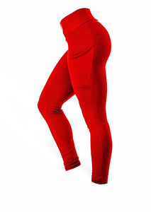 The Brazilian Butt Side Pockets Pants - Red - AcaiBerryFashion