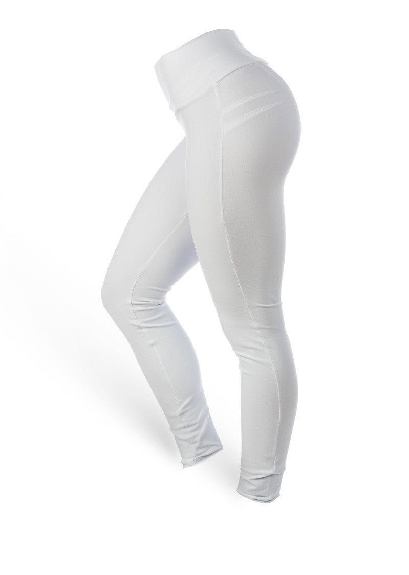 Brazilian Butt Push Up Pants Fitness - Snow White - AcaiBerryFashion