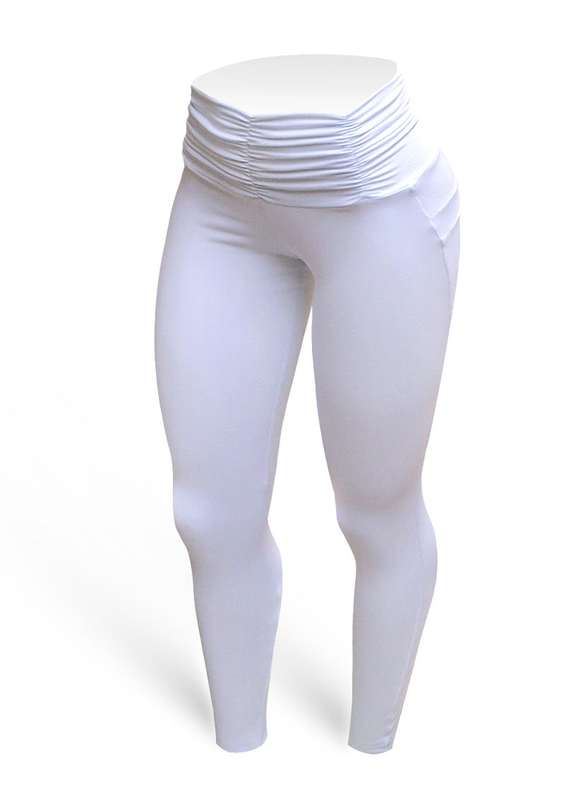 Franzy Brazilian Butt Push Up Pants Fitness - White - AcaiBerryFashion