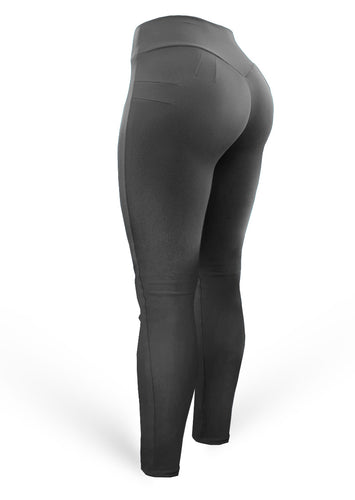 Brazilian Butt Push Up Pants - Mix Dark Grey - AcaiBerryFashion