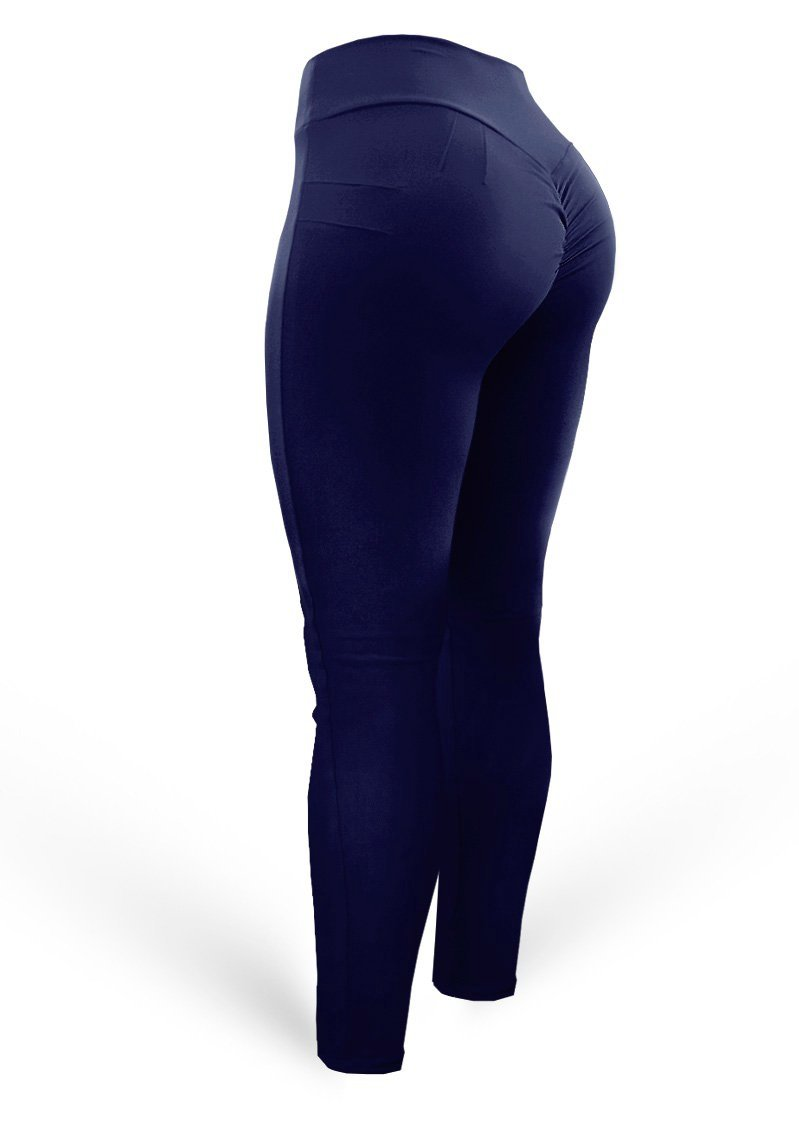 Push Up Pants Scrunch Mix Navy (Light Dri-fit) - AcaiBerryFashion