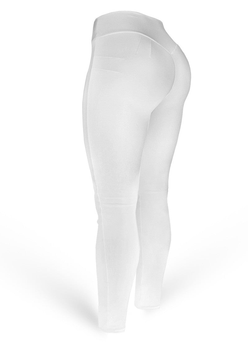 Brazilian Butt Push Up Pants - Mix White - AcaiBerryFashion