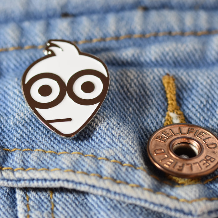 Pick Geek Enamel Pin