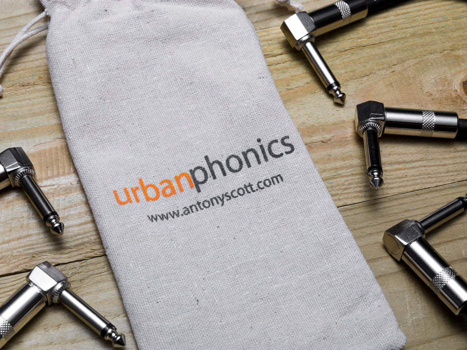 Urbanphonics Patch Cable - Black & White Tweed