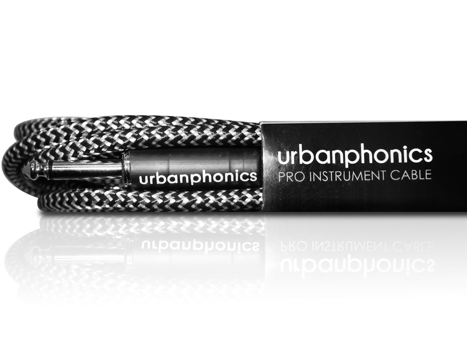 Urbanphonics Premium Instrument Cable - Black & White Tweed