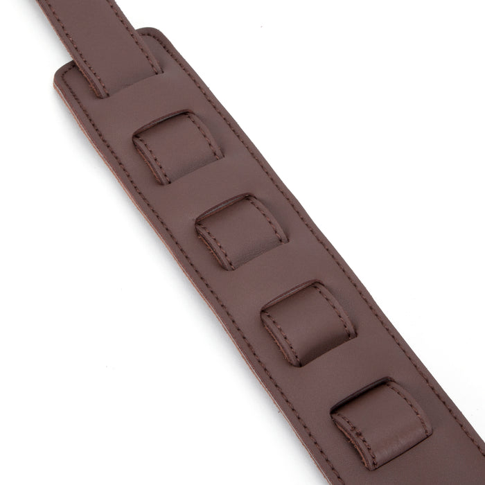 Dat Strap Dark Brown Leather Guitar Strap