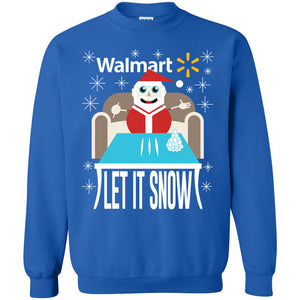 LET IT SNOW PULLOVER (BLACK OR BLUE)