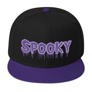Spooky Snapback Hat (Black/Purple)