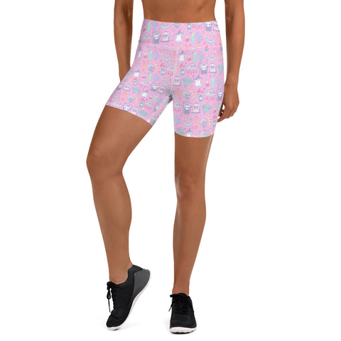Creep It Real Yoga Shorts