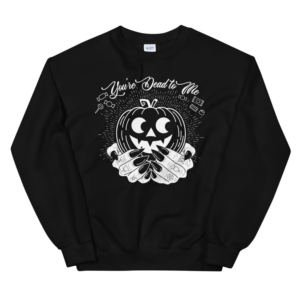 Dead to Me Sweatshirt (Black, Blue, Pink)