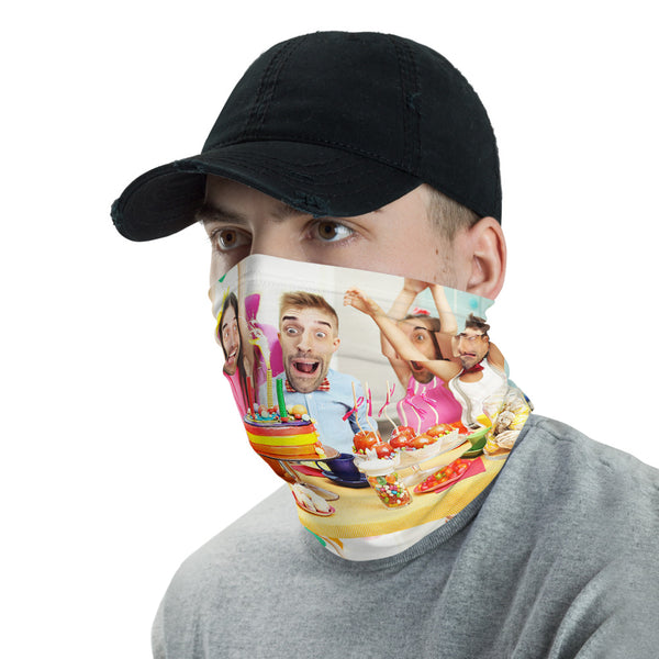 LETZ NOT PARTY NECK GAITER