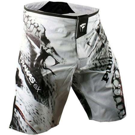 MMA/GRAPPLING FIGHT SHORTS WHITE SERPENT