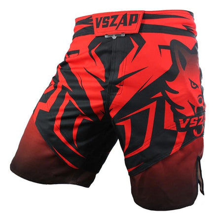 MMA/GRAPPLING FIGHT SHORTS - RED AND BLACK - VSZAP