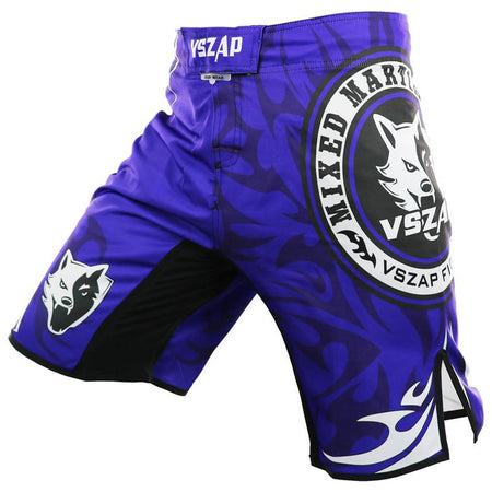 MMA/GRAPPLING FIGHT SHORTS - MIXED MARTIAL ARTS BLUE