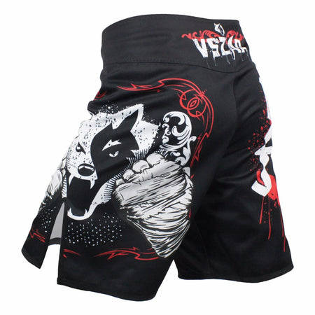 MMA/GRAPPLING FIGHT SHORTS - BLOODY RED WOLF - VSZAP