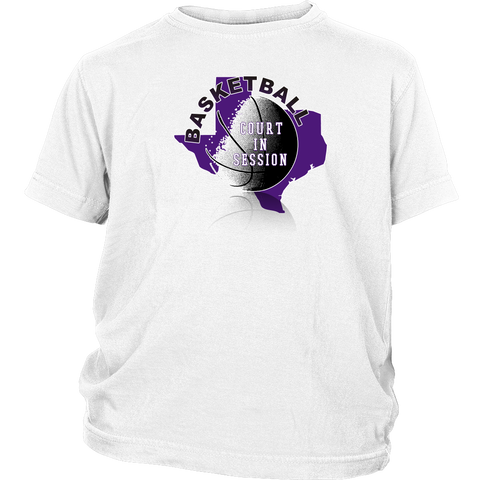 TCU Basketball Court In Session Youth T-Shirt - 47stories - 1