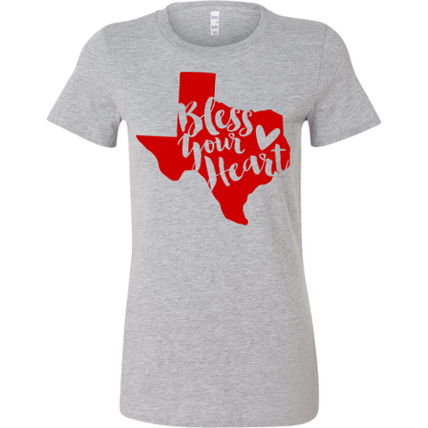 Bless Your Heart State of Texas Red T-Shirt Women's Slim Fit - 47stories - 1