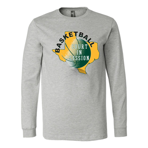 Baylor Basketball Court In Session Men's Long Sleeve Shirt - 47stories - 1