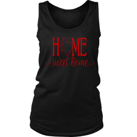 Home Sweet Home Texas Red Women's Tank Top - 47stories