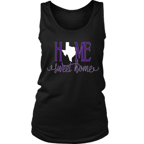 Home Sweet Home Texas Purple and White Women's Tank Top - 47stories