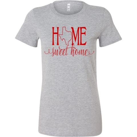 Home Sweet Home Texas Red Women's T-Shirt Slim Fit - 47stories - 1