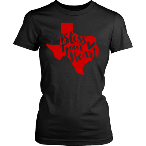 Bless Your Heart State of Texas Red T-Shirt Women's Classic Fit - 47stories - 1