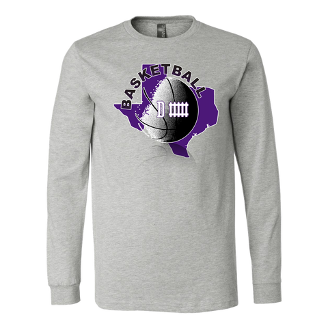 TCU Basketball Defense Men's Long Sleeve Shirt - 47stories - 1