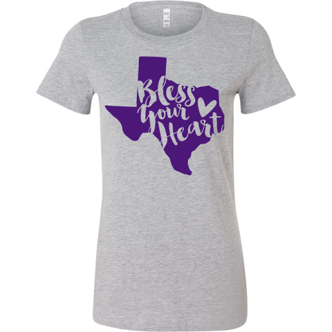 Bless Your Heart State of Texas Purple T-Shirt Women's Slim Fit - 47stories - 1