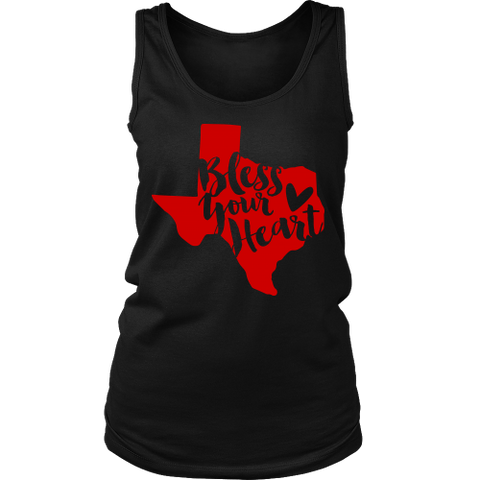 Bless Your Heart State of Texas Red Women's Tank Top - 47stories - 1